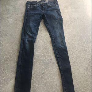 AG blue super skinny jeans
